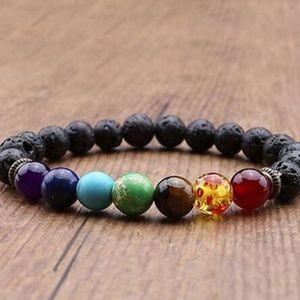 Jewelry - New🌟 Reiki 7 gem lava-stone bracelet